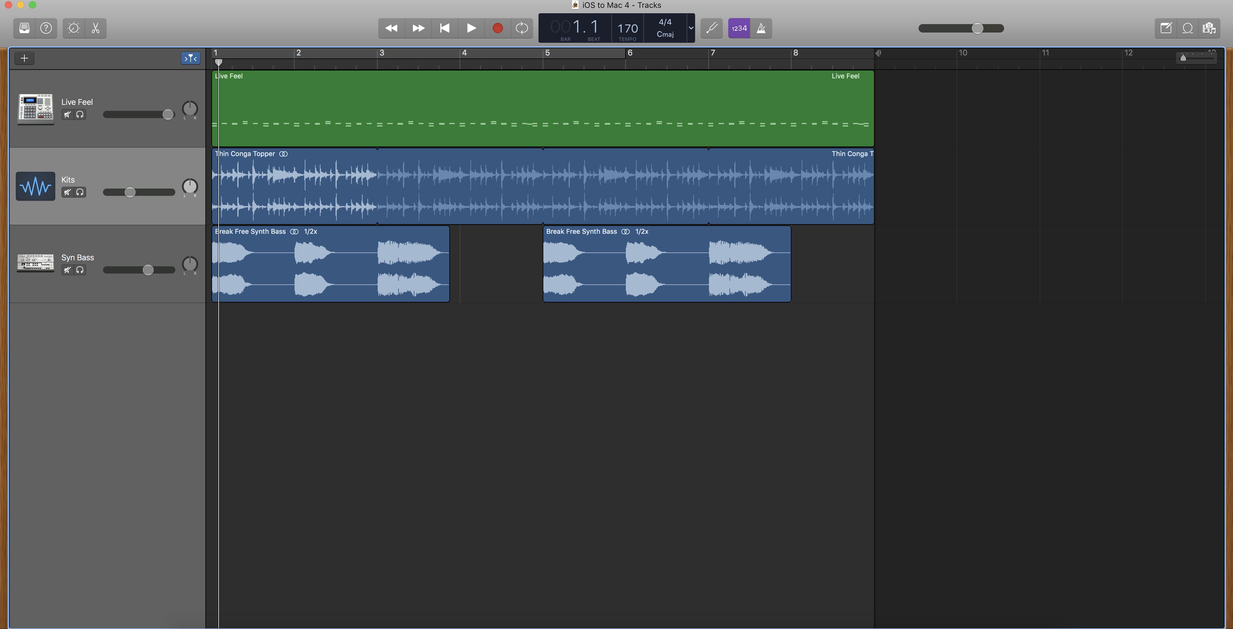 GarageBand iOS to GarageBand Mac