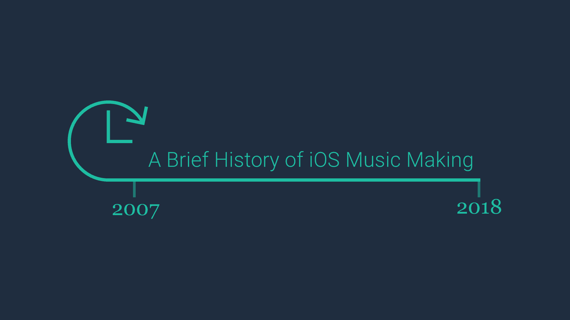History of iOS music production